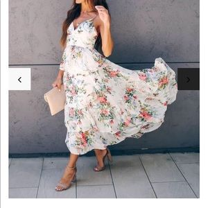 VICI //celebrate each day floral tiered maxi dress